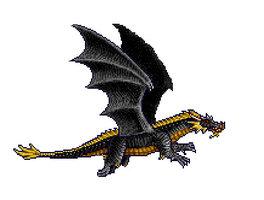 Чёрный дракон из Heroes of Might and Magic II (1996)