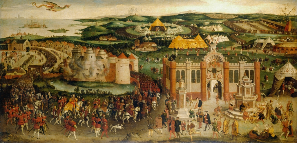 1545 att Hans Holbein the Younger - Field of the Cloth of Gold small
